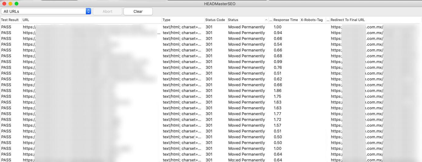 headmasterseo tool redirect validation
